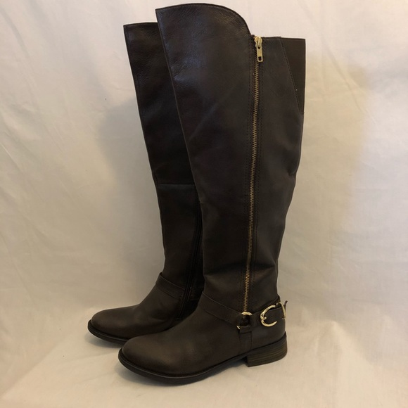 bffd0ad4005 Steve Madden Shoes - Steve Madden Brown Over The Knee Boots 9.5